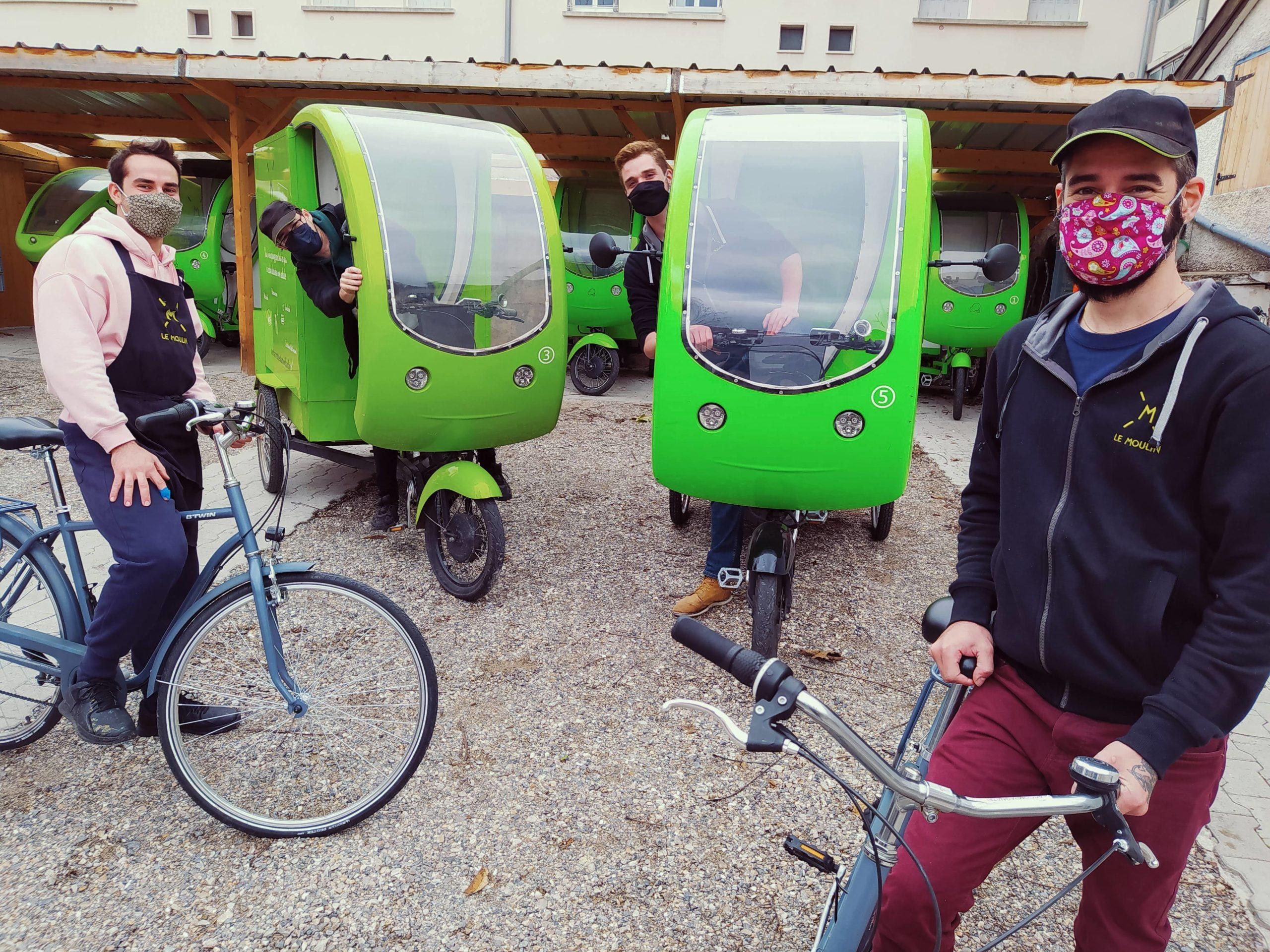 La livraison des commandes par tricycles à assistance électrique
